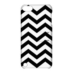 Black And White Chevron Apple iPod Touch 5 Hardshell Case with Stand