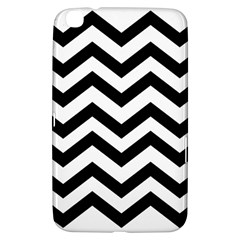 Black And White Chevron Samsung Galaxy Tab 3 (8 ) T3100 Hardshell Case
