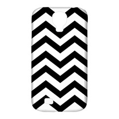 Black And White Chevron Samsung Galaxy S4 Classic Hardshell Case (PC+Silicone)