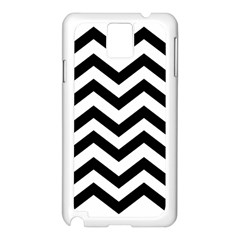 Black And White Chevron Samsung Galaxy Note 3 N9005 Case (White)