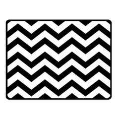 Black And White Chevron Double Sided Fleece Blanket (Small)