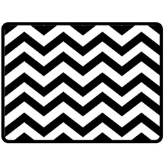 Black And White Chevron Double Sided Fleece Blanket (Large)