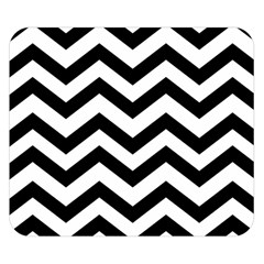 Black And White Chevron Double Sided Flano Blanket (Small)
