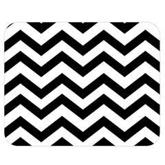 Black And White Chevron Double Sided Flano Blanket (Medium)