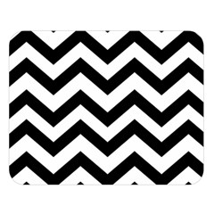 Black And White Chevron Double Sided Flano Blanket (Large)