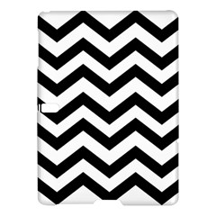 Black And White Chevron Samsung Galaxy Tab S (10.5 ) Hardshell Case