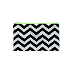 Black And White Chevron Cosmetic Bag (XS)