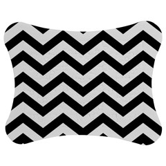 Black And White Chevron Jigsaw Puzzle Photo Stand (Bow)