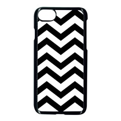 Black And White Chevron Apple iPhone 7 Seamless Case (Black)