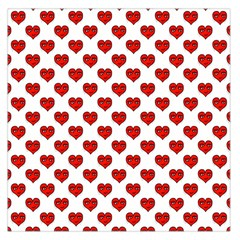 Emoji Heart Shape Drawing Pattern Large Satin Scarf (square) by dflcprints