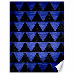 Triangle2 Black Marble & Blue Brushed Metal Canvas 12  X 16  by trendistuff