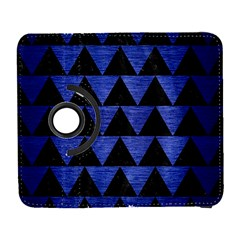 Triangle2 Black Marble & Blue Brushed Metal Samsung Galaxy S  Iii Flip 360 Case by trendistuff