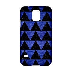 Triangle2 Black Marble & Blue Brushed Metal Samsung Galaxy S5 Hardshell Case  by trendistuff