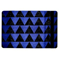Triangle2 Black Marble & Blue Brushed Metal Apple Ipad Air Flip Case by trendistuff