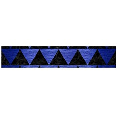 Triangle2 Black Marble & Blue Brushed Metal Flano Scarf (large) by trendistuff