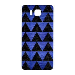 Triangle2 Black Marble & Blue Brushed Metal Samsung Galaxy Alpha Hardshell Back Case by trendistuff