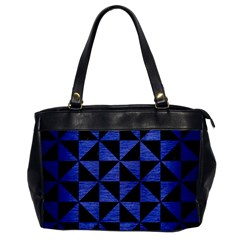 Triangle1 Black Marble & Blue Brushed Metal Oversize Office Handbag by trendistuff