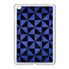 Triangle1 Black Marble & Blue Brushed Metal Apple Ipad Mini Case (white) by trendistuff