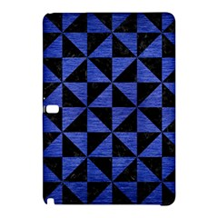 Triangle1 Black Marble & Blue Brushed Metal Samsung Galaxy Tab Pro 12 2 Hardshell Case by trendistuff