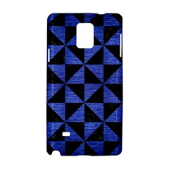 Triangle1 Black Marble & Blue Brushed Metal Samsung Galaxy Note 4 Hardshell Case by trendistuff