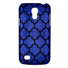 Tile1 Black Marble & Blue Brushed Metal (r) Samsung Galaxy S4 Mini (gt I9190) Hardshell Case  by trendistuff