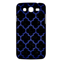 Tile1 Black Marble & Blue Brushed Metal Samsung Galaxy Mega 5 8 I9152 Hardshell Case  by trendistuff