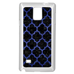 Tile1 Black Marble & Blue Brushed Metal Samsung Galaxy Note 4 Case (white)