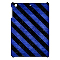 Stripes3 Black Marble & Blue Brushed Metal (r) Apple Ipad Mini Hardshell Case by trendistuff