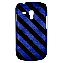 Stripes3 Black Marble & Blue Brushed Metal (r) Samsung Galaxy S3 Mini I8190 Hardshell Case by trendistuff