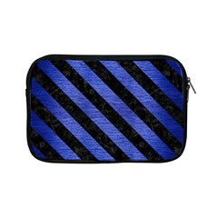 Stripes3 Black Marble & Blue Brushed Metal (r) Apple Ipad Mini Zipper Case by trendistuff