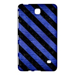 Stripes3 Black Marble & Blue Brushed Metal (r) Samsung Galaxy Tab 4 (8 ) Hardshell Case  by trendistuff
