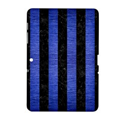 Stripes1 Black Marble & Blue Brushed Metal Samsung Galaxy Tab 2 (10 1 ) P5100 Hardshell Case  by trendistuff
