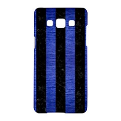 Stripes1 Black Marble & Blue Brushed Metal Samsung Galaxy A5 Hardshell Case  by trendistuff