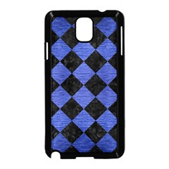 Square2 Black Marble & Blue Brushed Metal Samsung Galaxy Note 3 Neo Hardshell Case (black) by trendistuff