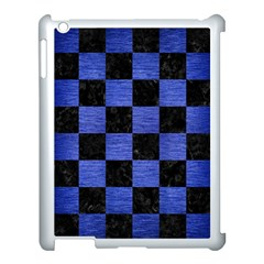 Square1 Black Marble & Blue Brushed Metal Apple Ipad 3/4 Case (white) by trendistuff