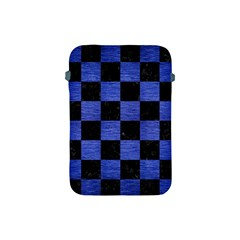 Square1 Black Marble & Blue Brushed Metal Apple Ipad Mini Protective Soft Case by trendistuff