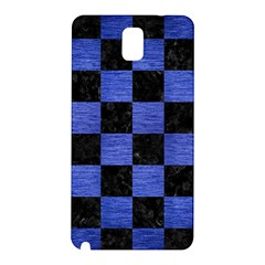 Square1 Black Marble & Blue Brushed Metal Samsung Galaxy Note 3 N9005 Hardshell Back Case by trendistuff