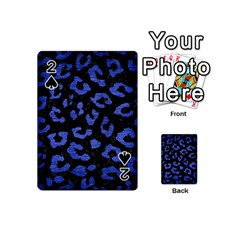 Skin5 Black Marble & Blue Brushed Metal (r) Playing Cards 54 (mini) by trendistuff