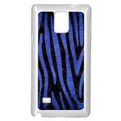 Skin4 Black Marble & Blue Brushed Metal (r) Samsung Galaxy Note 4 Case (white) by trendistuff