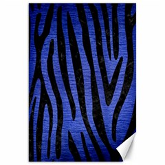 Skin4 Black Marble & Blue Brushed Metal Canvas 20  X 30  by trendistuff