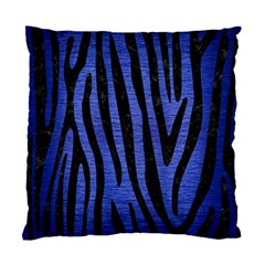 Skin4 Black Marble & Blue Brushed Metal Standard Cushion Case (one Side) by trendistuff