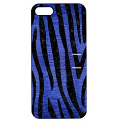 Skin4 Black Marble & Blue Brushed Metal Apple Iphone 5 Hardshell Case With Stand by trendistuff