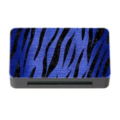 Skin3 Black Marble & Blue Brushed Metal (r) Memory Card Reader With Cf by trendistuff
