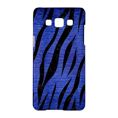 Skin3 Black Marble & Blue Brushed Metal (r) Samsung Galaxy A5 Hardshell Case  by trendistuff