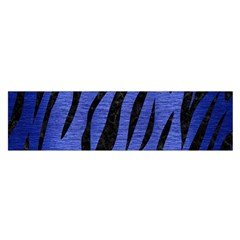 Skin3 Black Marble & Blue Brushed Metal (r) Satin Scarf (oblong) by trendistuff