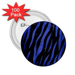 Skin3 Black Marble & Blue Brushed Metal 2 25  Button (100 Pack) by trendistuff