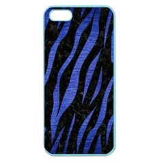 Skin3 Black Marble & Blue Brushed Metal Apple Seamless Iphone 5 Case (color) by trendistuff