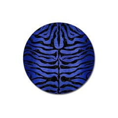 Skin2 Black Marble & Blue Brushed Metal (r) Magnet 3  (round) by trendistuff