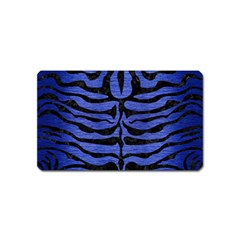 Skin2 Black Marble & Blue Brushed Metal (r) Magnet (name Card) by trendistuff