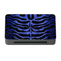 Skin2 Black Marble & Blue Brushed Metal Memory Card Reader With Cf by trendistuff